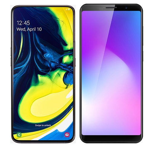 Smartphone Comparison: Samsung galaxy a80 vs Cubot power
