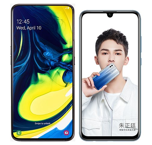 Smartphone Comparison: Samsung galaxy a80 vs Honor 10 lite