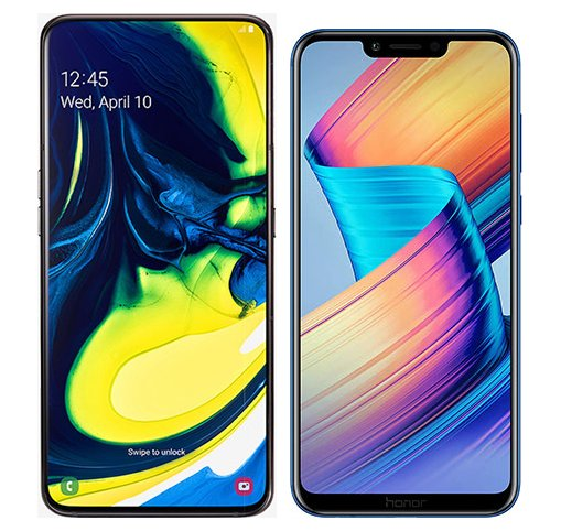 Smartphonevergleich: Samsung galaxy a80 oder Honor play