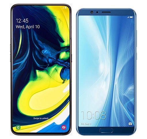Smartphone Comparison: Samsung galaxy a80 vs Honor view 10