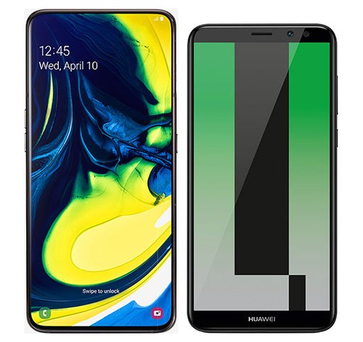 Smartphone Comparison: Samsung galaxy a80 vs Huawei mate 10 lite