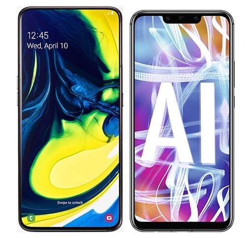 Smartphone Comparison: Samsung galaxy a80 vs Huawei mate 20 lite