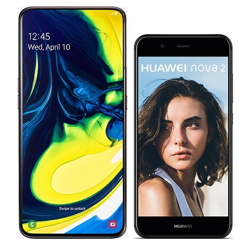 Smartphone Comparison: Samsung galaxy a80 vs Huawei nova 2
