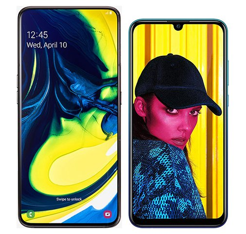 Smartphone Comparison: Samsung galaxy a80 vs Huawei p smart 2019