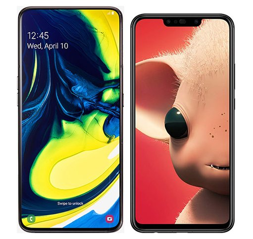 Smartphone Comparison: Samsung galaxy a80 vs Huawei p smart plus