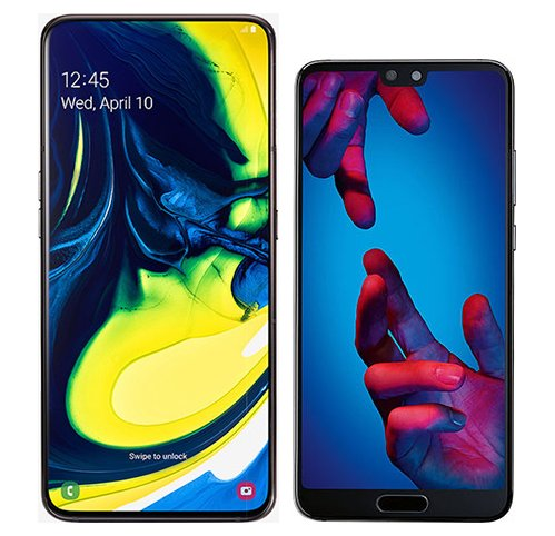 Smartphone Comparison: Samsung galaxy a80 vs Huawei p20