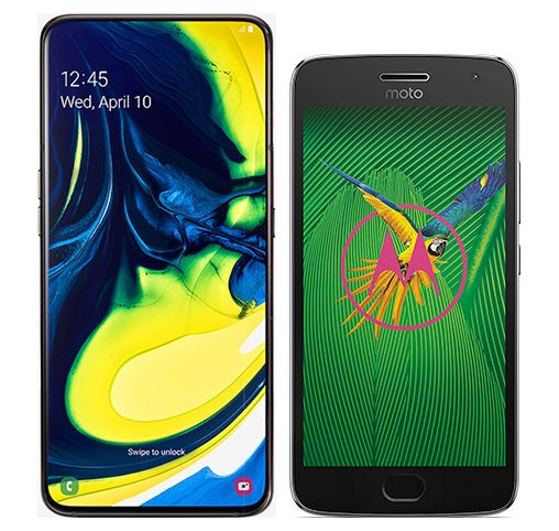 Smartphone Comparison: Samsung galaxy a80 vs Motorola moto g5 plus