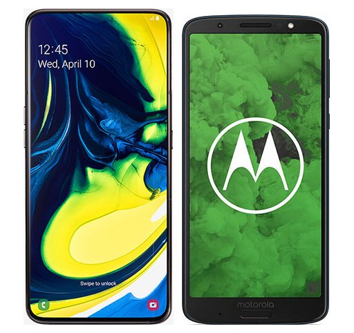 Smartphone Comparison: Samsung galaxy a80 vs Motorola moto g6 plus