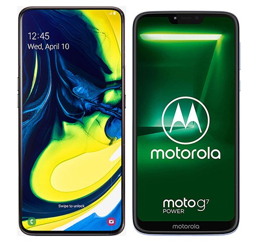 Smartphone Comparison: Samsung galaxy a80 vs Motorola moto g7 power
