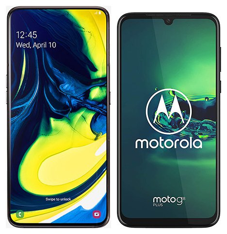 Smartphone Comparison: Samsung galaxy a80 vs Motorola moto g8 plus