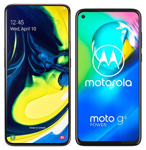 Smartphone Comparison: Samsung galaxy a80 vs Motorola moto g8 power