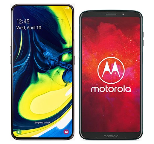 Smartphone Comparison: Samsung galaxy a80 vs Motorola moto z3 play