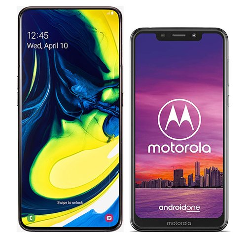 Smartphone Comparison: Samsung galaxy a80 vs Motorola one