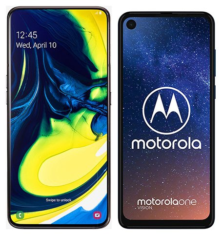 Smartphone Comparison: Samsung galaxy a80 vs Motorola one vision