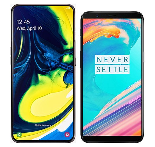 Smartphone Comparison: Samsung galaxy a80 vs One plus 5t