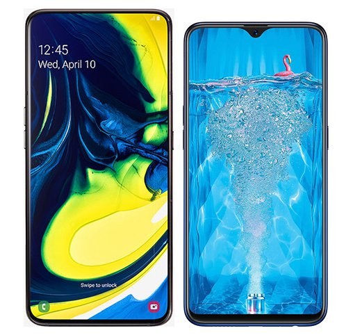 Smartphone Comparison: Samsung galaxy a80 vs Oppo f9 pro