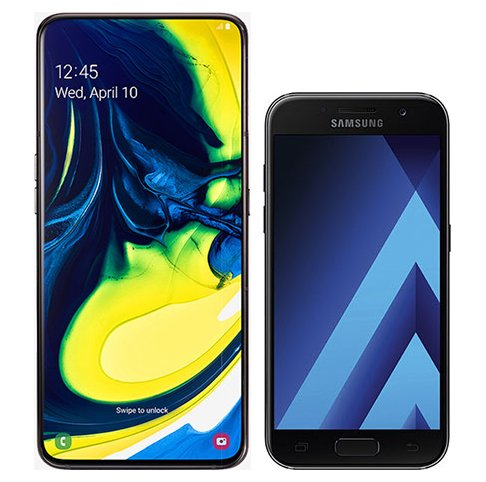 Smartphone Comparison: Samsung galaxy a80 vs Samsung galaxy a3 2017