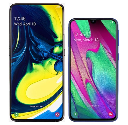 Smartphone Comparison: Samsung galaxy a80 vs Samsung galaxy a40
