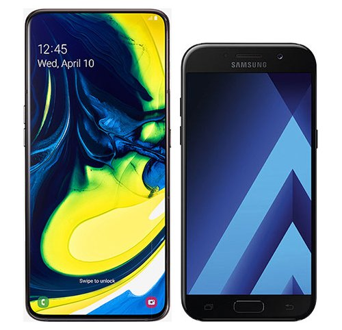 Smartphone Comparison: Samsung galaxy a80 vs Samsung galaxy a5 2017