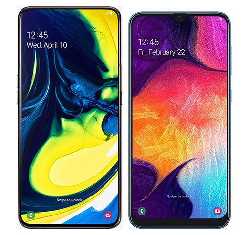 Smartphone Comparison: Samsung galaxy a80 vs Samsung galaxy a50
