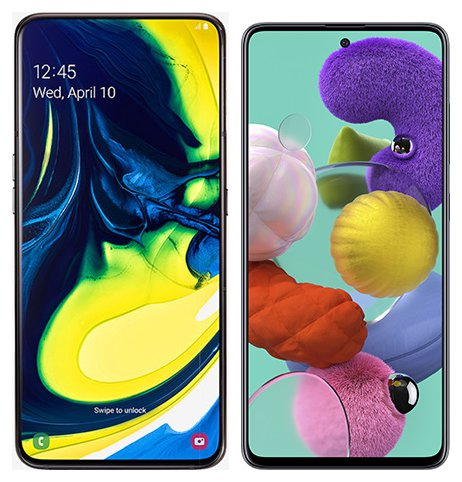 Smartphone Comparison: Samsung galaxy a80 vs Samsung galaxy a51