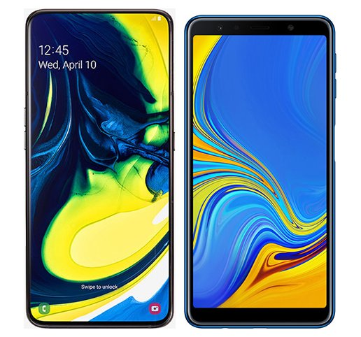 Smartphone Comparison: Samsung galaxy a80 vs Samsung galaxy a7 2018