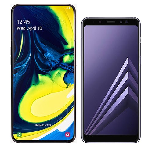 Smartphone Comparison: Samsung galaxy a80 vs Samsung galaxy a8