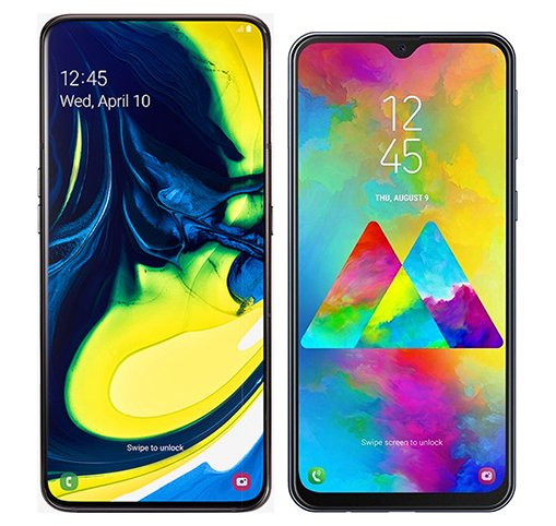 Smartphone Comparison: Samsung galaxy a80 vs Samsung galaxy m20