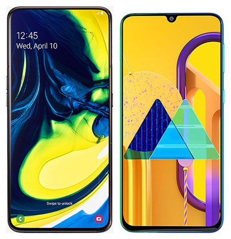 Smartphone Comparison: Samsung galaxy a80 vs Samsung galaxy m30s