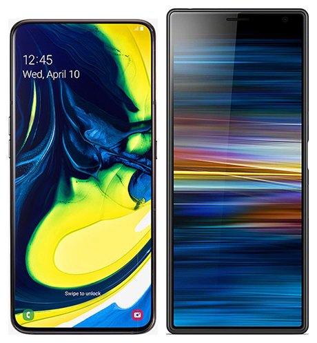 Smartphone Comparison: Samsung galaxy a80 vs Sony xperia 10 plus