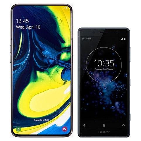 Smartphonevergleich: Samsung galaxy a80 oder Sony xperia xz2 compact