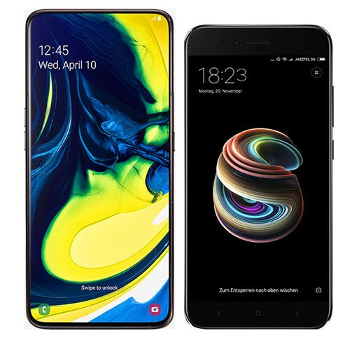 Smartphone Comparison: Samsung galaxy a80 vs Xiaomi mi a1