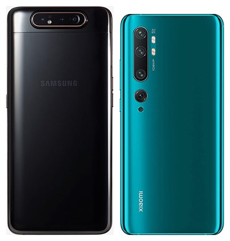 Galaxy A80 vs Note 10. View of main cameras