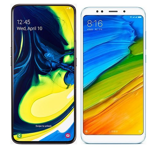 Smartphone Comparison: Samsung galaxy a80 vs Xiaomi redmi 5 plus