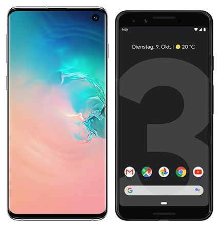 Smartphone Comparison: Samsung galaxy s10 vs Google pixel 3