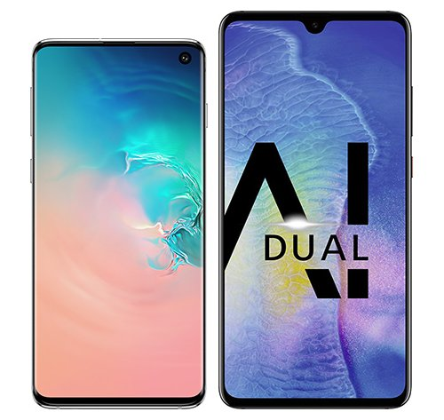 Smartphone Comparison: Samsung galaxy s10 vs Huawei mate 20