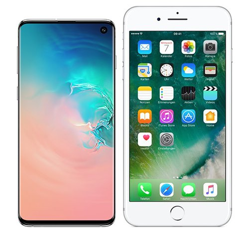 Smartphone Comparison: Samsung galaxy s10 vs Iphone 7 plus