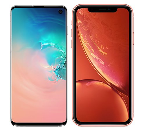 Smartphone Comparison: Samsung galaxy s10 vs Iphone xr