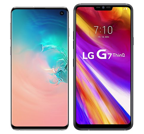 Smartphone Comparison: Samsung galaxy s10 vs Lg g7 thinq