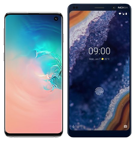 Smartphone Comparison: Samsung galaxy s10 vs Nokia 9