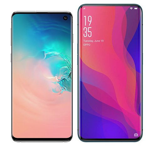 Smartphone Comparison: Samsung galaxy s10 vs Oppo find x