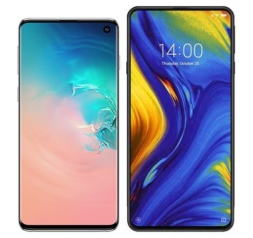 Smartphone Comparison: Samsung galaxy s10 vs Xiaomi mi mix 3