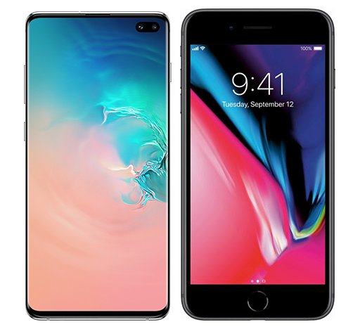 Smartphonevergleich: Samsung galaxy s10 plus oder Iphone 8 plus