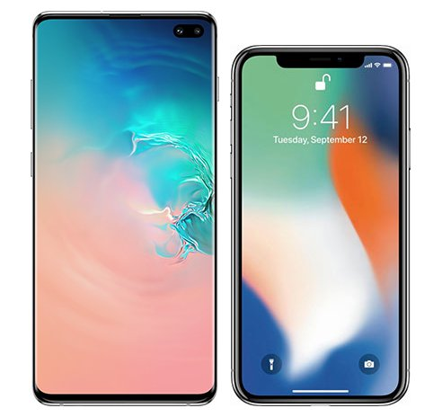 Smartphonevergleich: Samsung galaxy s10 plus oder Iphone x