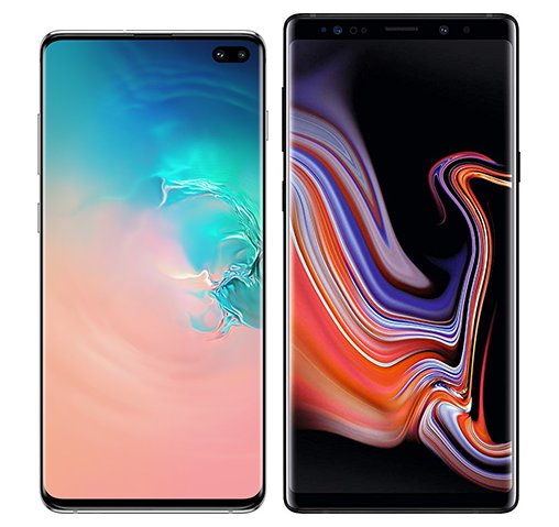 Smartphonevergleich: Samsung galaxy s10 plus oder Samsung galaxy note 9
