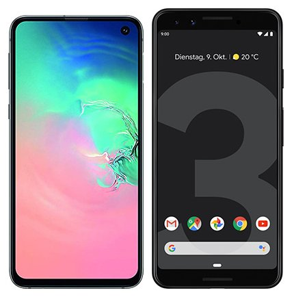 Smartphone Comparison: Samsung galaxy s10e vs Google pixel 3