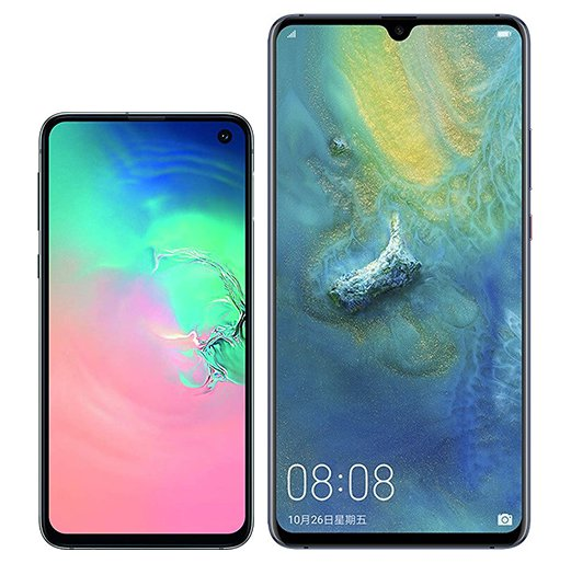 Smartphone Comparison: Samsung galaxy s10e vs Huawei mate 20 x
