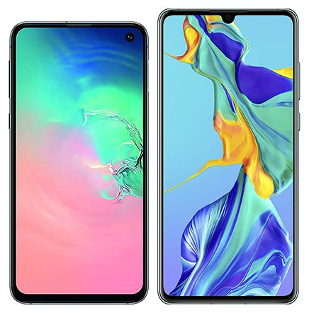 Smartphone Comparison: Samsung galaxy s10e vs Huawei p30
