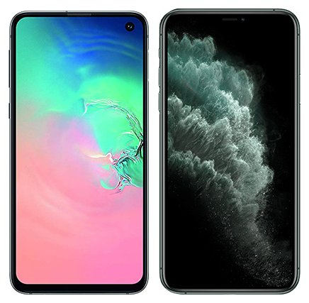 Smartphone Comparison: Samsung galaxy s10e vs Iphone 11 pro