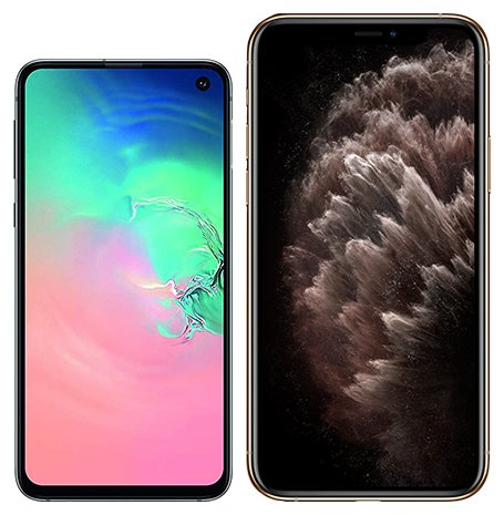 Smartphone Comparison: Samsung galaxy s10e vs Iphone 11 pro max